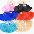 "Popular 3.5"" Rd. Mbl Top Tassel Fashion Earrings Mixed Colors  .54 each"