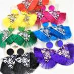 "Popular 3"" Triangle Top Tassel Fashion Earrings Mixed Colors  .54 each"