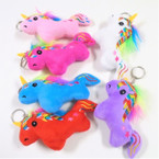 "So Cute 5.5"" Plush Unicorn Keychains w/ Fury Mane .58 each"