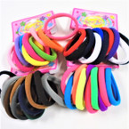 10 Pk Soft & Stretchy Asst Color Ponytailers .50 per set