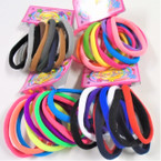 10 Pk Soft & Stretchy Mixed Colors Ponytailers .54 per set
