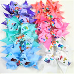 "5"" Colorful Mermaid Theme Gator Clip Bows .54 ea"