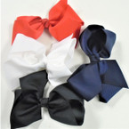 "SPECIAL 5"" Gator Clip Bows 4 Colors as shown 24 per pk .30 each bow"