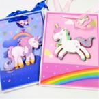 "7"" X 9.5"" Unicorn Theme 3D Front Gift Bags 12 per pk .54 ea"