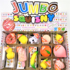 "New 2""-4"" Mixed Style Squishy in display box .65 each"