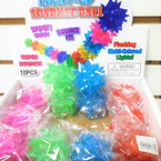 "2"" Light Up Sparkle Star Balls 12 per display bx .58 ea"