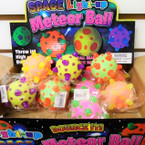 Space Light Up Meteor Balls 12 per display box .75 each