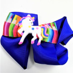 "5.5""  Nine Color Unicorn Theme Gator Clip Bows w/ Pencil Theme Bow .54 ea"