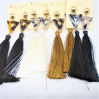 "4"" Fashion Tassel Earrings w/ Triangle Top  4 colors .54 ea"