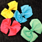 "5"" Mixed Color Gator Clip Bows w/ 3 Fold Design24 per pk ONLY .35 each"