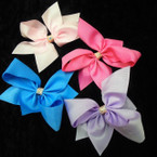 "5"" Mixed Color Gator Clip Bows w/ Sparkle Center 24 per pk ONLY .35 each"