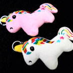 "So Cute 5"" Plush Embroidered Unicorn Keychains 2 colors  .58 each"