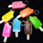 "4"" Mixed Color Squishy Ice Cream Pop Keychains .58 each"