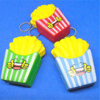 """3"""" Squishy French Fry Keychains  Asst Color .58 each"""