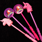 "14"" Flashing 3 Function Unicorn Wands 2 Styles per pk 12 per pk .65 each"