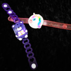 3 Function Light Up Bear/Unicorn Bracelets 12 per pk .55 each