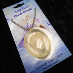 Courage Angel Stone Necklace on Silver Chain 12 per pk .33 each
