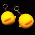 "2.5"" Squishy Scented DUCK Keychains .56 ea"