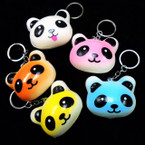 "3"" Squishy Scented Colorful Panda Bear Keychains .56 ea"