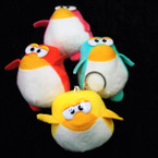 "So Cute 3.5"" Penquin Plush Keychains Asst Colors 12 per pk .58 each"