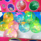 "2.5"" Light Up Duper Balls w/ Dinosaur Inside 12 per display bx .58 each"