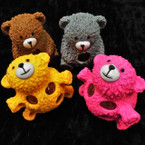 "3"" Super Squishy Bears w/ Multi Color Beads 12 per display bx .60 ea"