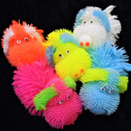"4"" Light Up Cute Doggie  Puffer Asst Colors 12 per display box .56 each"
