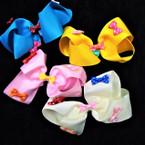 """5"""" Colorful Gator Clip Bows w/ Mini Poka Dot Bows .54 each"""