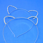Gold & Silver Rhinestone Cat Ear Fashion Headbands .54 each