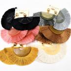 """3"""" Mixed Color Fan Style Tassel Fashion Earrings .54 each pair"""