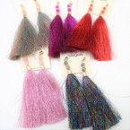 Popular Tassel Fashion Earrings w/ Crystal Beads .54 ea pair