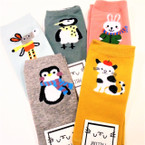 Mixed Style Animal Theme Kid's Socks  Asst Colors .54 per pair