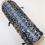 New Leather Bracelets Hologram  JESUS  is Lord,JESUS Fish  .54 ea