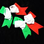 """6"""" X 6"""" Mexico/Italy Color Gator Clip Bows w/ Tails 12 per pk  .50 ea"""