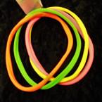 4 Pack Soft & Stretchy Headbands Mixed Neon Colors .50 per pk