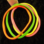 4 Pack Soft & Stretchy Headbands Mixed Neon Colors .50 per pk
