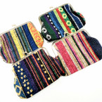 "4"" Aztec Mixed Pattern Snap Closure Coin Purses  .54 each"