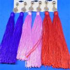 "6"" Tassel Fashion Earrings w/ Crystal Stone Tree of Life .54 each  pair"