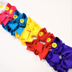 "5.5""  Light Up Gator Clip Bows Asst Colors   .54 each"
