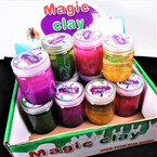 "2"" X 3"" New Colorful Glitter Slime 12 per display bx .60 each"