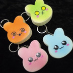 "2.50"" Squishy Scented Bunny Rabbit   Keychains .58 ea"