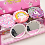 Unicorn Theme Round DBL Compact Mirror in Display .56 each