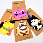 "3"" Mixed Style Animal Theme Luggage Tags .56 each"