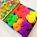 "3.5"" Asst Color Flashing Puffer Ducks 12 per display bx .75 each"