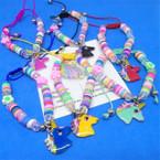 Kid's Cord Bead Bracelets w/ Unicorn Charm 12 per pk .54 each
