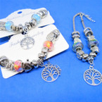 Pandora Style Charm Bracelets w/ Silver Tree of Life .56 ea