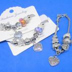 Pandora Style Charm Bracelets w/ Heart Charm .56 ea