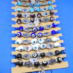 Macrame Bracelets w/ Hamsa & Eye Beads  12 per cd  .54 each