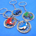 Round Silver Florida Keychains w/ Spinning Center  .58 each