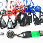 Clip On  Retractable Lighter Holder Asst Colors  .54 each